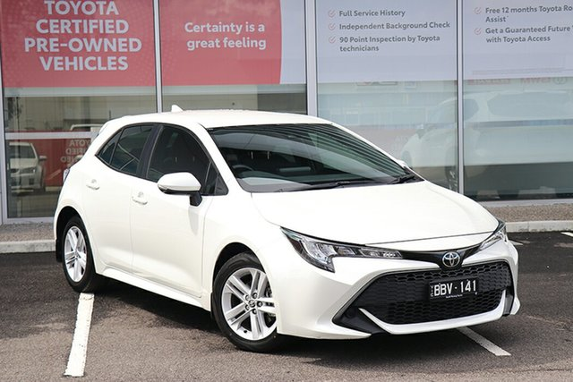 Pre-Owned Toyota Corolla Mzea12R Ascent Sport South Morang, 2019 Toyota Corolla Mzea12R Ascent Sport White 10 Speed Constant Variable Hatchback