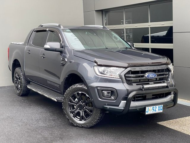 Used Ford Ranger PX MkIII 2019.00MY Wildtrak Hobart, 2019 Ford Ranger PX MkIII 2019.00MY Wildtrak Grey 10 Speed Sports Automatic Double Cab Pick Up
