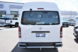 2010 Toyota HiAce KDH223R MY10 Commuter High Roof Super LWB White 4 Speed Automatic Bus