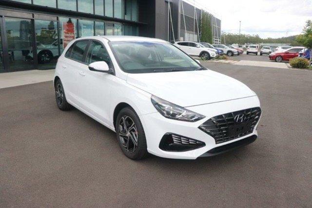 New Hyundai i30 PD.V4 MY21 Springwood, 2021 Hyundai i30 PD.V4 MY21 Polar White 6 Speed Manual Hatchback