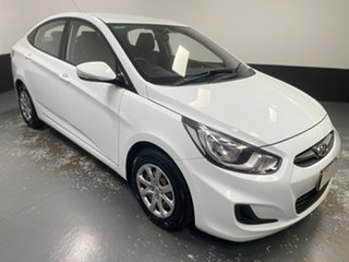 2013 Hyundai Accent RB Active Crystal White 4 Speed Sports Automatic Hatchback.