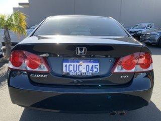 2008 Honda Civic 8th Gen MY08 VTi Black 5 Speed Manual Sedan.