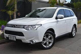 2013 Mitsubishi Outlander ZJ MY14 LS 4WD White 6 Speed Sports Automatic Wagon.