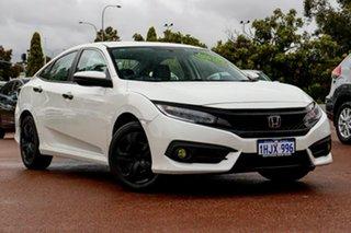 2018 Honda Civic 10th Gen MY18 VTi White 1 Speed Constant Variable Sedan.