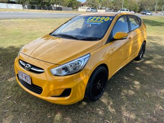 2016 Hyundai Accent RB3 MY16 Active Yellow 6 Speed Constant Variable Hatchback.