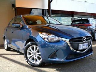 2018 Mazda 2 DL2SA6 Maxx SKYACTIV-MT Blue 6 Speed Manual Sedan.