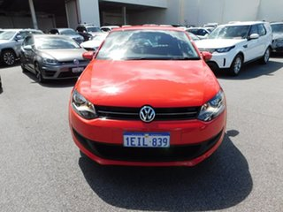 2012 Volkswagen Polo 6R MY13 77TSI DSG Comfortline Red 7 Speed Sports Automatic Dual Clutch.