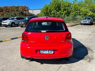 2013 Volkswagen Polo 6R MY13.5 77TSI DSG Comfortline Red 7 Speed Sports Automatic Dual Clutch