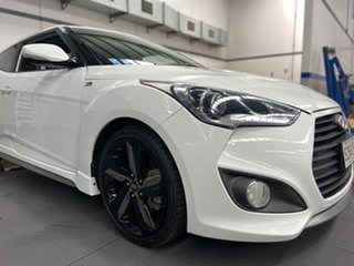 2012 Hyundai Veloster FS2 SR Coupe Turbo Pearl White 6 Speed Sports Automatic Hatchback.