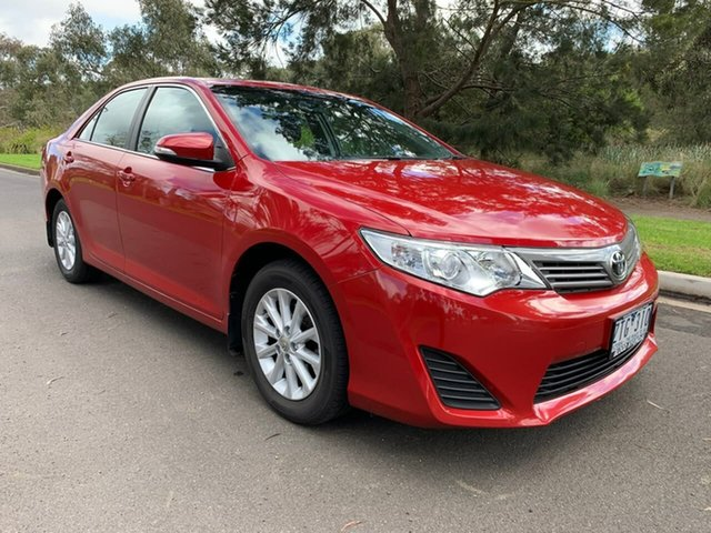 Used Toyota Camry ASV50R Altise Geelong, 2013 Toyota Camry ASV50R Altise Red 6 Speed Sports Automatic Sedan