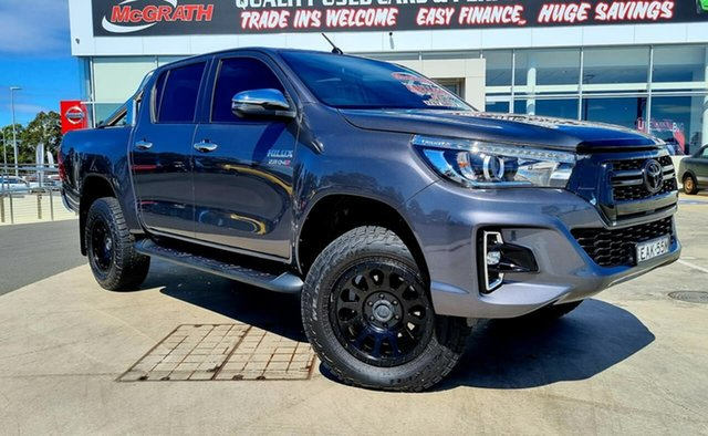 Used Toyota Hilux GUN126R SR5 Double Cab Liverpool, 2018 Toyota Hilux GUN126R SR5 Double Cab Graphite Grey 6 Speed Sports Automatic Utility