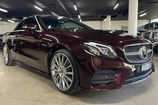 2019 Mercedes-Benz E-Class A238 800MY E300 9G-Tronic PLUS Red 9 Speed Sports Automatic Cabriolet.