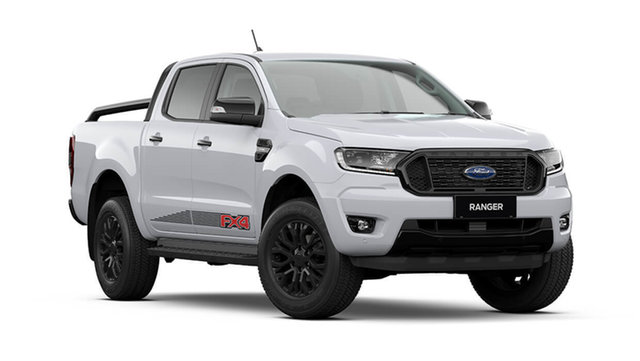 New Ford Ranger PX MkIII 2021.75MY FX4 Rutherford, 2021 Ford Ranger PX MkIII 2021.75MY FX4 Arctic White 10 Speed Sports Automatic Double Cab Pick Up