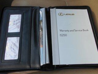 2008 Lexus IS GSE20R IS250 Prestige Black 6 Speed Sports Automatic Sedan