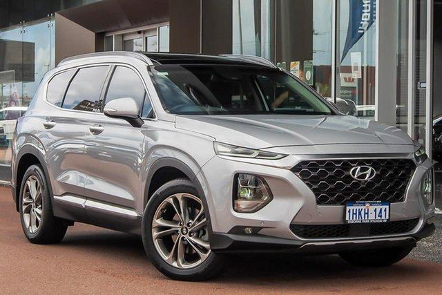 Used Hyundai Santa Fe TM MY19 Highlander Osborne Park, 2018 Hyundai Santa Fe TM MY19 Highlander Silver 8 Speed Sports Automatic Wagon