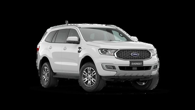 New Ford Everest UA II 2021.75MY Trend Rutherford, 2021 Ford Everest UA II 2021.75MY Trend Arctic White 10 Speed Sports Automatic SUV