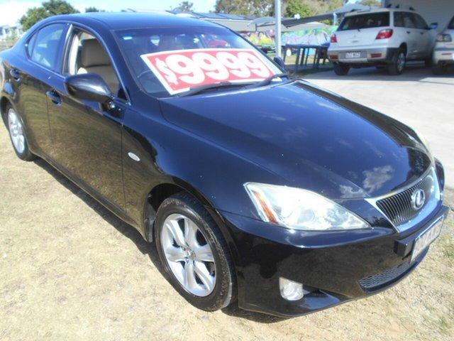 Used Lexus IS GSE20R IS250 Prestige Springwood, 2008 Lexus IS GSE20R IS250 Prestige Black 6 Speed Sports Automatic Sedan