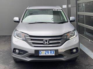 2014 Honda CR-V RM MY14 DTi-L 4WD Silver 5 Speed Sports Automatic Wagon.