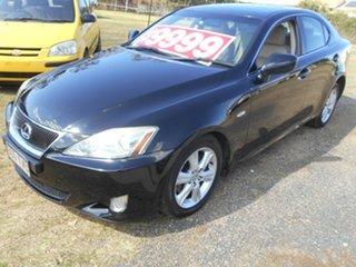 2008 Lexus IS GSE20R IS250 Prestige Black 6 Speed Sports Automatic Sedan.