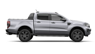 2021 Ford Ranger PX MkIII 2021.75MY Wildtrak Aluminium Silver 6 Speed Sports Automatic.