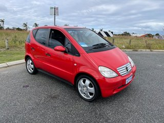 2000 Mercedes-Benz A190 W168 Avantgarde Red 5 Speed Automatic Hatchback.