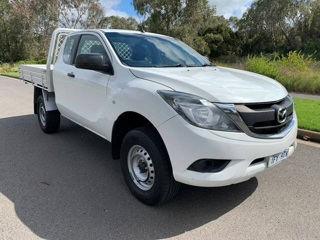 Used Mazda BT-50 XT Geelong, 2016 Mazda BT-50 UR XT White Sports Automatic Cab Chassis
