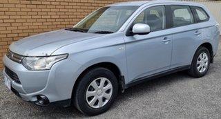2012 Mitsubishi Outlander ZJ MY13 ES 2WD Silver 6 Speed Constant Variable Wagon.