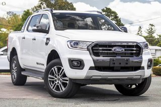 2021 Ford Ranger PX MkIII 2021.75MY Wildtrak White 10 Speed Sports Automatic Double Cab Pick Up.