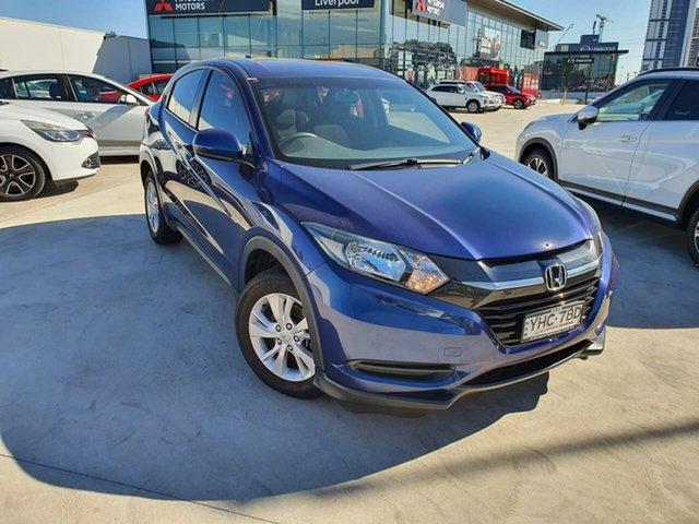 Used Honda HR-V MY17 VTi Liverpool, 2017 Honda HR-V MY17 VTi Blue 1 Speed Constant Variable Hatchback