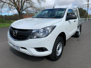 2016 Mazda BT-50 UR XT White Sports Automatic Cab Chassis.