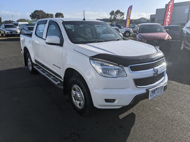 Used Holden Colorado RG MY13 LX Crew Cab Warrnambool East, 2012 Holden Colorado RG MY13 LX Crew Cab White 6 Speed Sports Automatic Utility