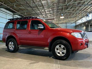 2010 Nissan Pathfinder R51 MY10 ST Red 5 Speed Sports Automatic Wagon.