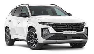 2021 Hyundai Tucson NX4.V1 MY22 Highlander D-CT AWD N Line White Cream 7 Speed Automatic Wagon