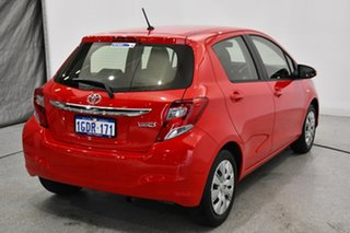 2016 Toyota Yaris NCP130R Ascent Cherry Red 4 Speed Automatic Hatchback