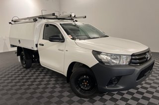2019 Toyota Hilux TGN121R Workmate 4x2 White 6 speed Automatic Cab Chassis.