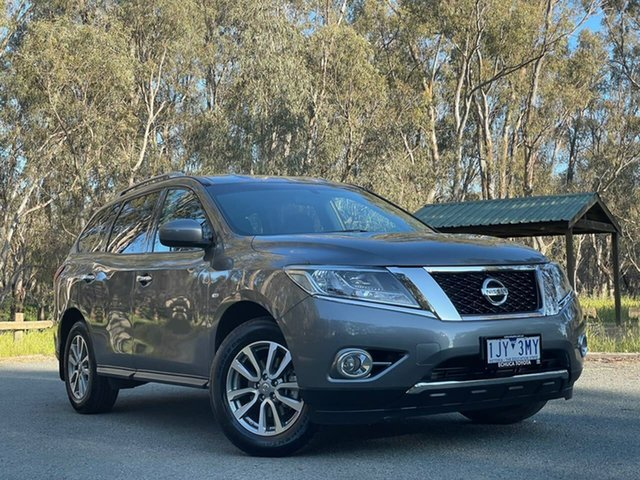Used Nissan Pathfinder R52 MY16 ST X-tronic 2WD Echuca, 2016 Nissan Pathfinder R52 MY16 ST X-tronic 2WD Grey 1 Speed Constant Variable Wagon