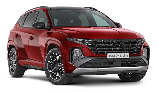 New Hyundai Tucson NX4.V1 MY22 Highlander D-CT AWD N Line Geelong, 2021 Hyundai Tucson NX4.V1 MY22 Highlander D-CT AWD N Line Crimson Red 7 Speed Automatic Wagon