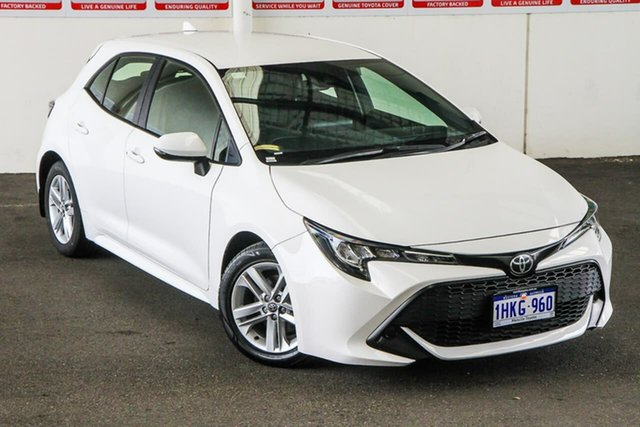 Pre-Owned Toyota Corolla Mzea12R Ascent Sport Myaree, 2018 Toyota Corolla Mzea12R Ascent Sport Glacier White Continuous Variable Hatchback