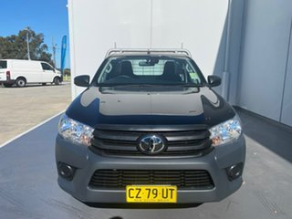 2020 Toyota Hilux TGN121R Workmate 4x2 Black 5 Speed Manual Cab Chassis.