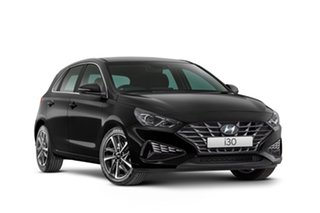2021 Hyundai i30 PD.V4 MY21 Elite Phantom Black 6 Speed Automatic Hatchback