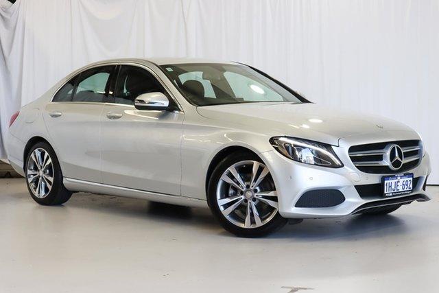 Used Mercedes-Benz C-Class W205 C200 7G-Tronic + Wangara, 2015 Mercedes-Benz C-Class W205 C200 7G-Tronic + Silver 7 Speed Sports Automatic Sedan