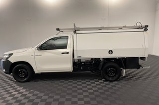 2019 Toyota Hilux TGN121R Workmate 4x2 White 6 speed Automatic Cab Chassis