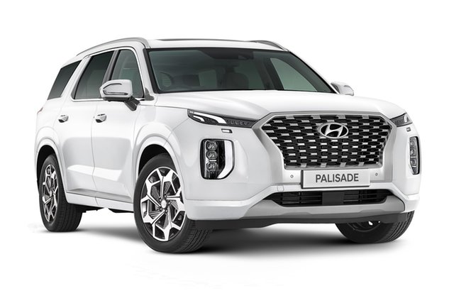 New Hyundai Palisade LX2.V2 MY22 Highlander AWD Geelong, 2021 Hyundai Palisade LX2.V2 MY22 Highlander AWD White Cream 8 Speed Automatic Wagon