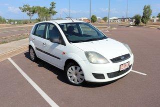2006 Ford Fiesta WQ LX White 5 Speed Manual Hatchback.