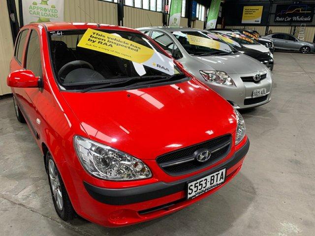 Used Hyundai Getz TB Upgrade S Hampstead Gardens, 2008 Hyundai Getz TB Upgrade S Red 5 Speed Manual Hatchback