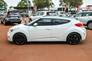 2012 Hyundai Veloster FS + Coupe White 6 Speed Manual Hatchback.