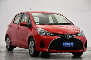 2016 Toyota Yaris NCP130R Ascent Cherry Red 4 Speed Automatic Hatchback.