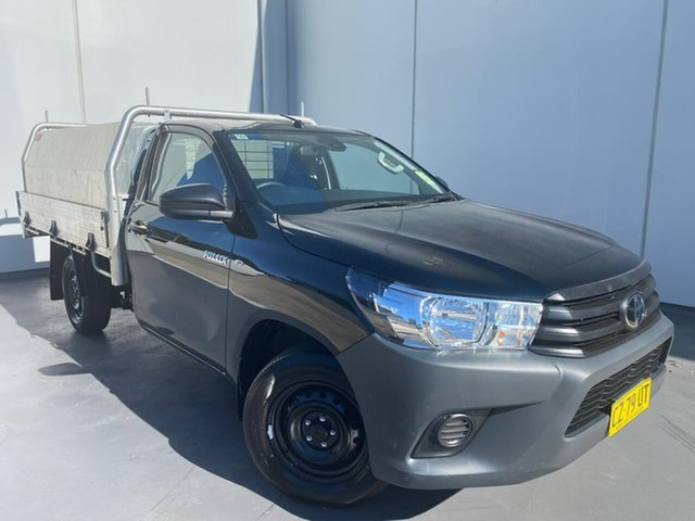 Used Toyota Hilux TGN121R Workmate 4x2 Liverpool, 2020 Toyota Hilux TGN121R Workmate 4x2 Black 5 Speed Manual Cab Chassis