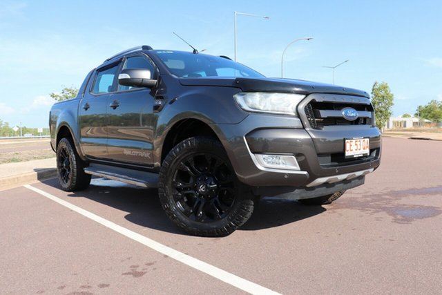 Pre-Owned Ford Ranger PX MkII 2018.00MY Wildtrak Double Cab Palmerston, 2017 Ford Ranger PX MkII 2018.00MY Wildtrak Double Cab Grey 6 Speed Automatic Dual Cab Pick-up