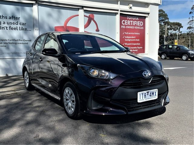 Pre-Owned Toyota Yaris Mxpa10R Ascent Sport Ferntree Gully, 2021 Toyota Yaris Mxpa10R Ascent Sport Scarlet 1 Speed Constant Variable Hatchback